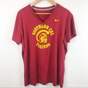 Womens USC Trojans Nike Dri Fit Buragandy XXL